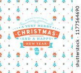 merry christmas and happy new... | Shutterstock .eps vector #1177564690