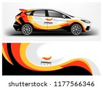 car wrap graphic racing yellow... | Shutterstock .eps vector #1177566346