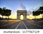 arc de triomphe at sunset  paris | Shutterstock . vector #1177567129