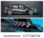 car wrap graphic racing...   Shutterstock .eps vector #1177568746