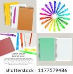 set of four vector illustration ... | Shutterstock .eps vector #1177579486