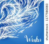 winter frozen window background.... | Shutterstock .eps vector #1177580083