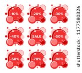 set of nine sale stickers with... | Shutterstock .eps vector #1177580326