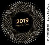 inscription happy new year 2019 ... | Shutterstock .eps vector #1177581439