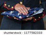 a female military marine posing ... | Shutterstock . vector #1177582333
