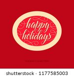 happy holidays vector text and... | Shutterstock .eps vector #1177585003