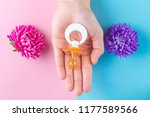 learn the gender of the unborn... | Shutterstock . vector #1177589566