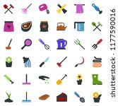 colored vector icon set  ... | Shutterstock .eps vector #1177590016