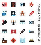 color and black flat icon set   ... | Shutterstock .eps vector #1177590490