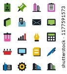 color and black flat icon set   ... | Shutterstock .eps vector #1177591573