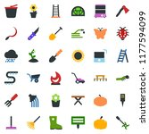 colored vector icon set   well... | Shutterstock .eps vector #1177594099