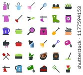 colored vector icon set  ... | Shutterstock .eps vector #1177594153