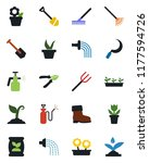 color and black flat icon set   ... | Shutterstock .eps vector #1177594726