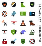 color and black flat icon set   ... | Shutterstock .eps vector #1177594759
