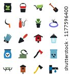 color and black flat icon set   ... | Shutterstock .eps vector #1177596400