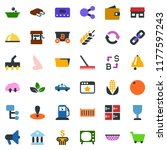 colored vector icon set   spike ... | Shutterstock .eps vector #1177597243