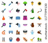 colored vector icon set  ... | Shutterstock .eps vector #1177599130