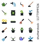 color and black flat icon set   ... | Shutterstock .eps vector #1177599526