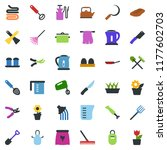 colored vector icon set  ... | Shutterstock .eps vector #1177602703