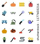 color and black flat icon set   ... | Shutterstock .eps vector #1177603216