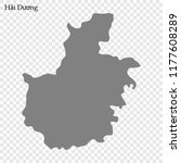 High Quality map of Hai Duong is a province of Vietnam