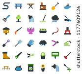colored vector icon set  ... | Shutterstock .eps vector #1177609126