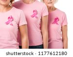 cropped shot of women with pink ... | Shutterstock . vector #1177612180