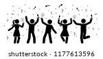 men and women stick figures...   Shutterstock .eps vector #1177613596