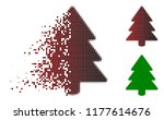 fir tree icon in fractured ... | Shutterstock .eps vector #1177614676