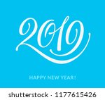 2019 text  word and lettering.... | Shutterstock . vector #1177615426