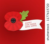 the remembrance poppy   poppy... | Shutterstock .eps vector #1177615720