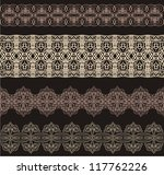set of different lace patterns. | Shutterstock .eps vector #117762226