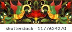 illustration in stained glass... | Shutterstock .eps vector #1177624270