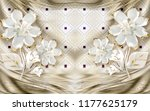 3d wallpaper design with floral ... | Shutterstock . vector #1177625179