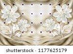 3d wallpaper design with floral ...   Shutterstock . vector #1177625179