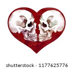 Heart With Human Skulls....