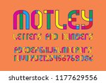 motley letters and numbers with ... | Shutterstock .eps vector #1177629556
