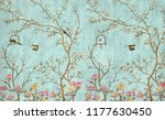 3d wallpaper design with little ... | Shutterstock . vector #1177630450