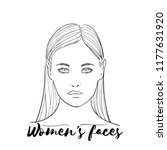 beauty spa face  pretty woman.... | Shutterstock .eps vector #1177631920