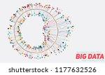 big data circular visualization.... | Shutterstock .eps vector #1177632526