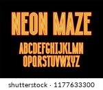 futuristic color neon maze... | Shutterstock .eps vector #1177633300