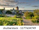 frontenac castle in old quebec... | Shutterstock . vector #1177634749