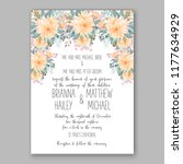 wedding card or invitation with ... | Shutterstock .eps vector #1177634929
