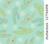 winter seamless pattern | Shutterstock .eps vector #117763498