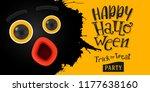 happy halloween eyes and... | Shutterstock .eps vector #1177638160