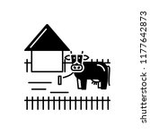 vector icon for ranching   Shutterstock .eps vector #1177642873
