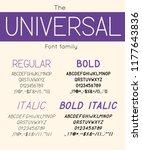 universal font family regular ... | Shutterstock .eps vector #1177643836