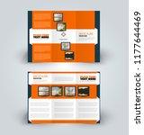 brochure design. creative tri... | Shutterstock .eps vector #1177644469