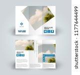 brochure design. creative tri... | Shutterstock .eps vector #1177644499