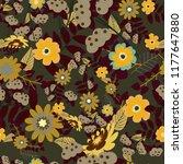 vintage garden natural seamless ... | Shutterstock .eps vector #1177647880